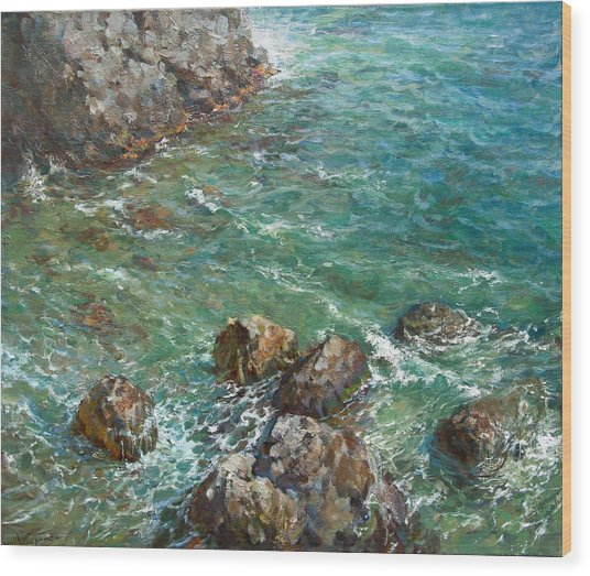 The Surf Wood Print by Korobkin Anatoly