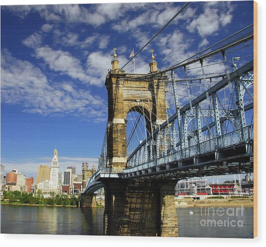The Suspension Bridge Wood Print