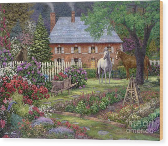 The Sweet Garden Wood Print by Chuck Pinson