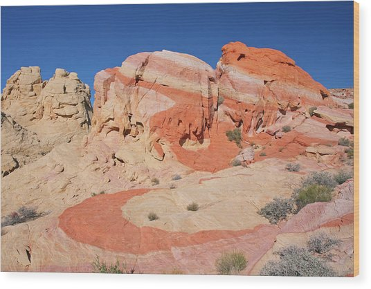 The Swoosh At The Valley Of Fire Wood Print