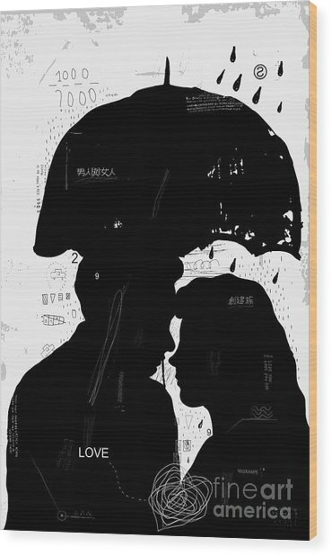 The Symbolic Image Of A Man And A Woman Wood Print by Dmitriip