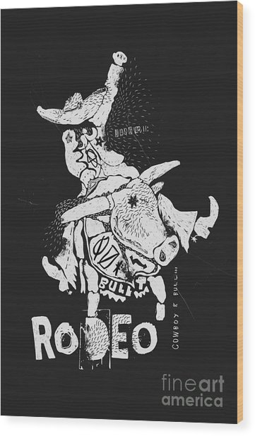 The Symbolic Image Of The Bull On Which Wood Print by Dmitriip