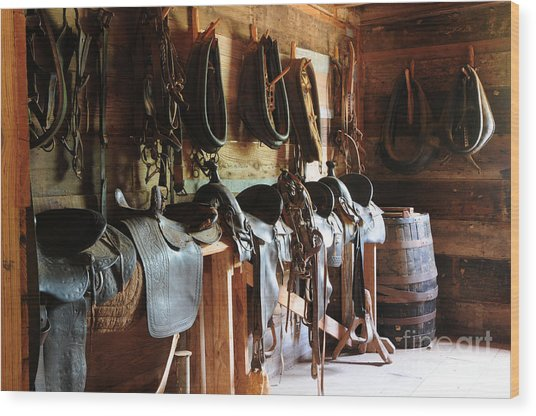The Tack Room Wood Print