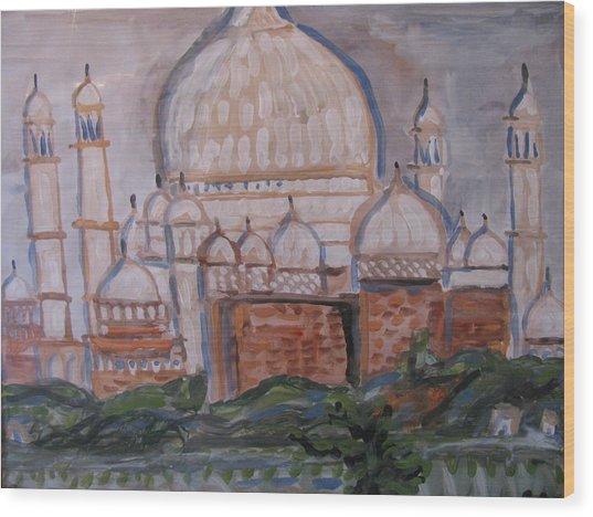 The Taj Wood Print
