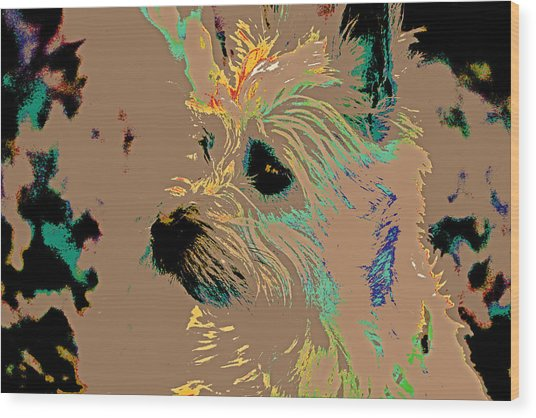 The Terrier Wood Print