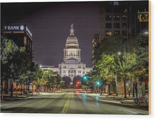 The Texas Capitol Building Wood Print