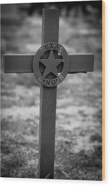 The Texas Ranger Wood Print