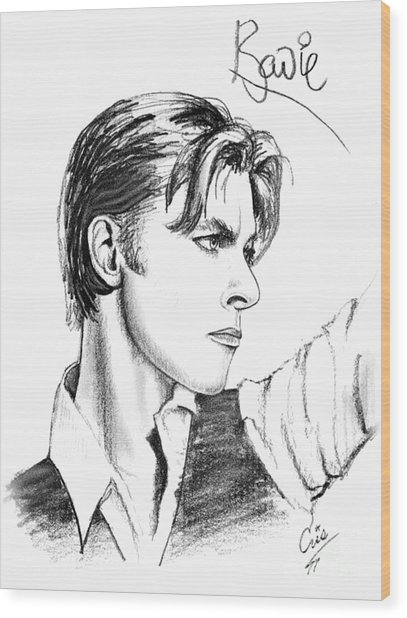 The Thin White Duke Wood Print