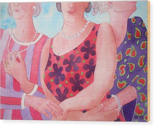 The Three Gracies Wood Print by Julie  Hutchinson