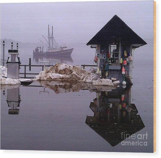 The Tide Is Rising Wood Print