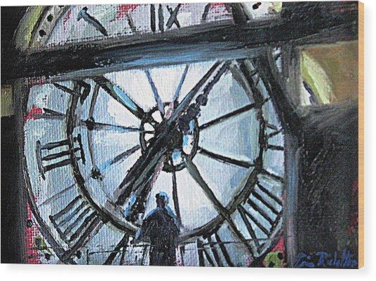 The Timekeeper Wood Print