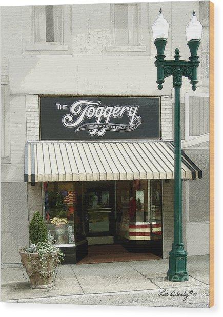 The Toggery Wood Print