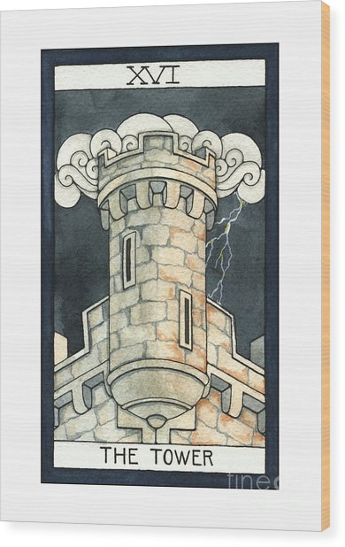 The Tower Wood Print by Nora Blansett