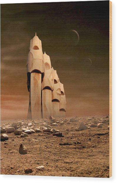 The Towers Of Icarus II Wood Print
