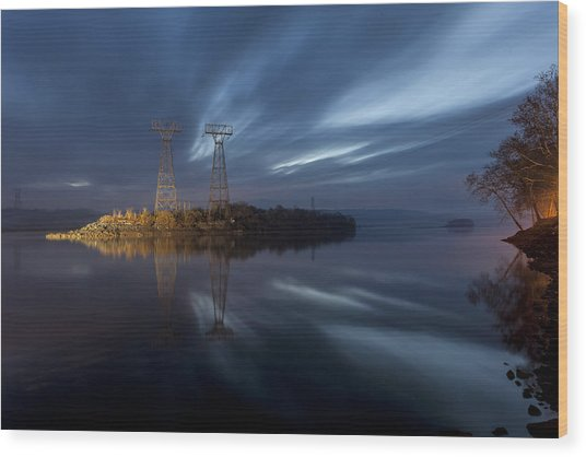 The Towers Of Power Wood Print