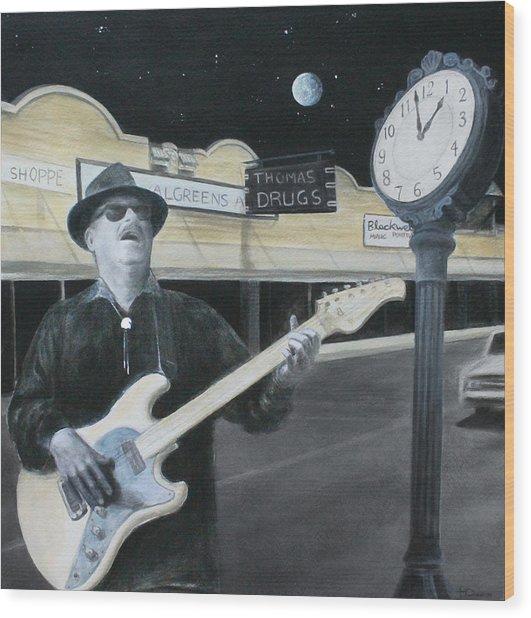The Town Crier Wood Print by Patricia Ann Dees