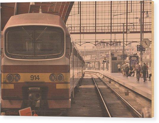 The Train Kept A Rollin Wood Print