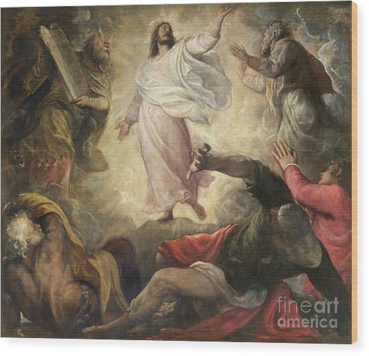 The Transfiguration Of Christ Wood Print