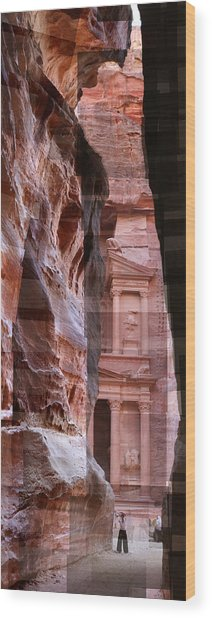 The Treasury Of Petra Jordan Wood Print