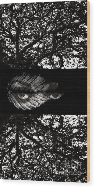 The Tree Watcher Wood Print