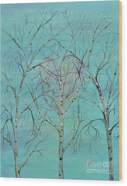 The Trees Speak To Me In Whispers Wood Print