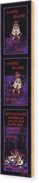 The Truth About Humpty Dumpty Wood Print
