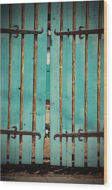 The Turquoise Gate Wood Print