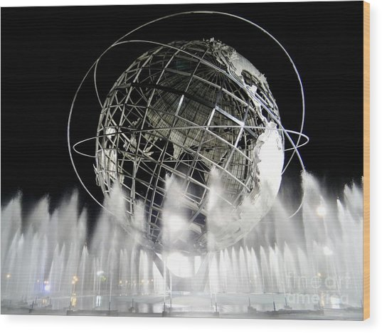 The Unisphere's 50th Anniversary Wood Print