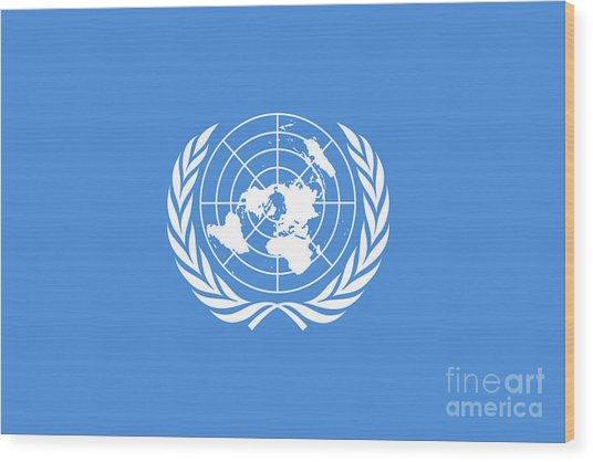 The United Nations Flag  Authentic Version Wood Print