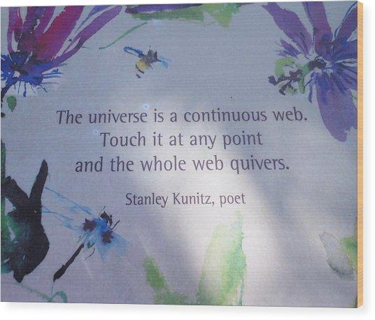 The Universe Wood Print