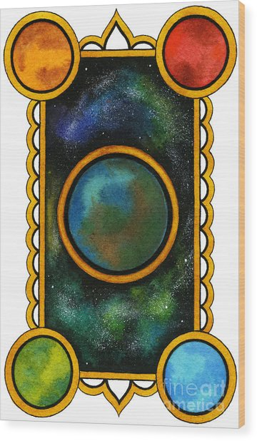 The Universe Wood Print by Nora Blansett