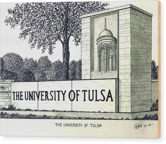 The University Of Tulsa Wood Print