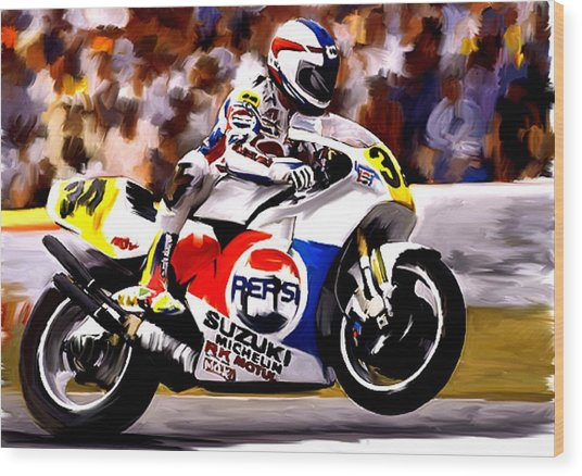 The Unleashing   Kevin Schwantz Wood Print