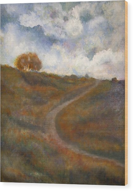 The Uphill Road Wood Print