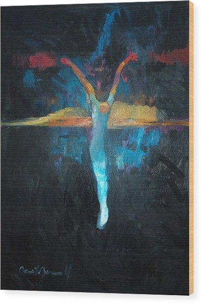 The Upside Down Sunset Wood Print