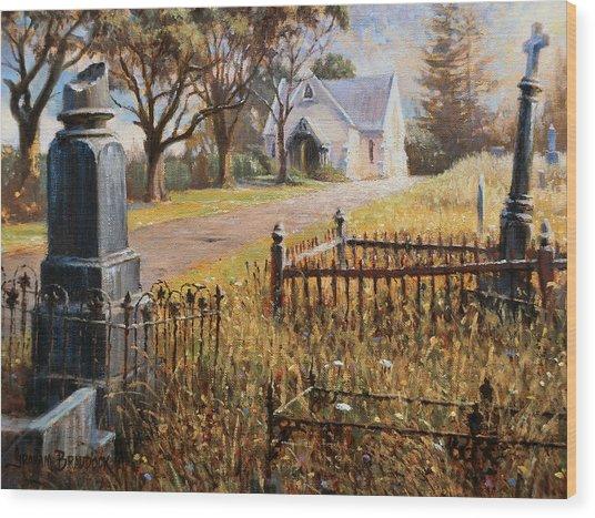 The Upward Path  Waikumete Cemetery  Auckland Wood Print