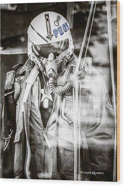 Wood Print featuring the photograph The U.s Airman by Stwayne Keubrick