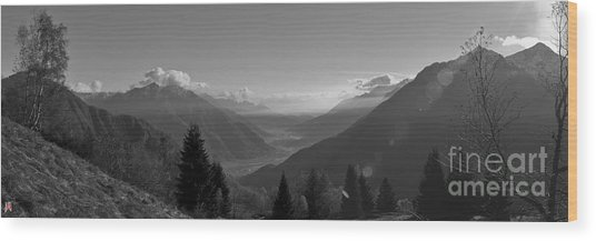 The Valley Wood Print by Marco Affini