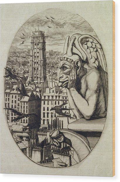 The Vampire Le Stryge, 1853 Etching Wood Print