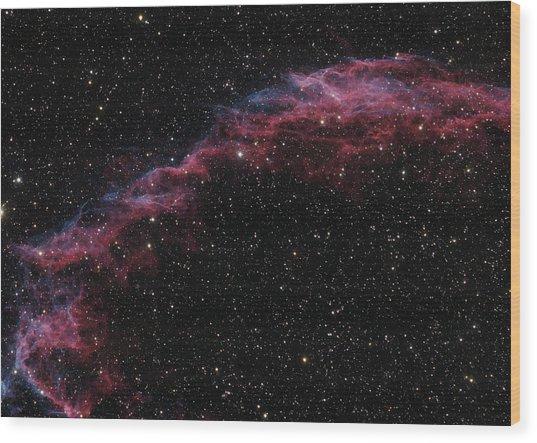 The Veil Nebula Wood Print by Brian Peterson