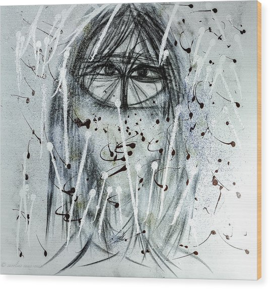 The Veiled Woman Wood Print
