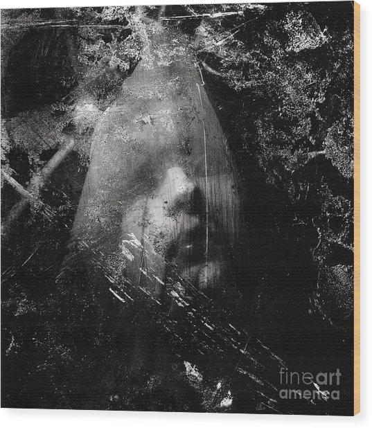 The Veiled Woman Wood Print by Sharon Kalstek-Coty