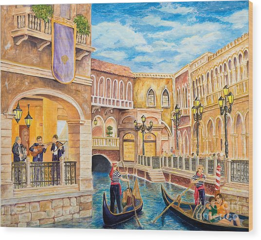 The Venetian Canal  Wood Print