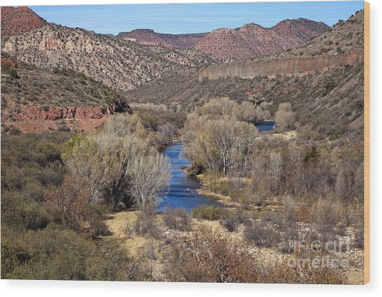 The Verde River In The Verde Canyon Arizona Wood Print