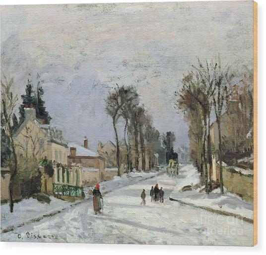 The Versailles Road At Louveciennes Wood Print