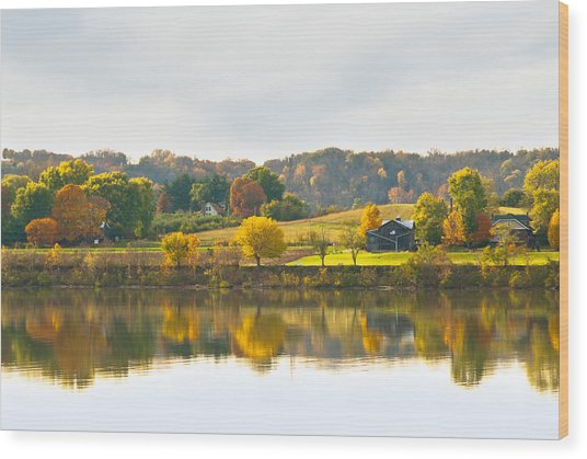 The View From Rabbit Hash Wood Print by Jeanne Sheridan