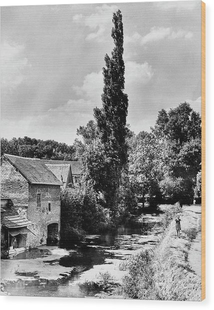 The Village Of Illiers-combray In France Wood Print