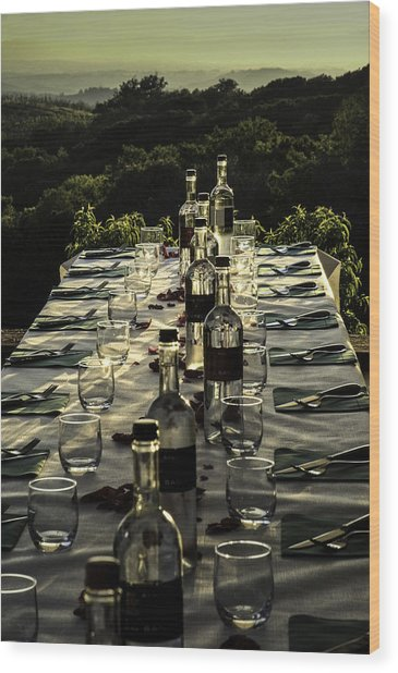 The Vintner's Table Wood Print