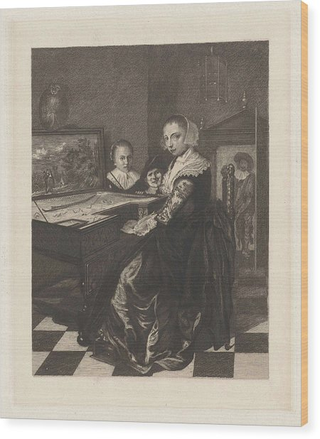 The Virginals Player, Willem Steelink II Wood Print