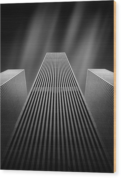 The W Wood Print by Olivier Schwartz